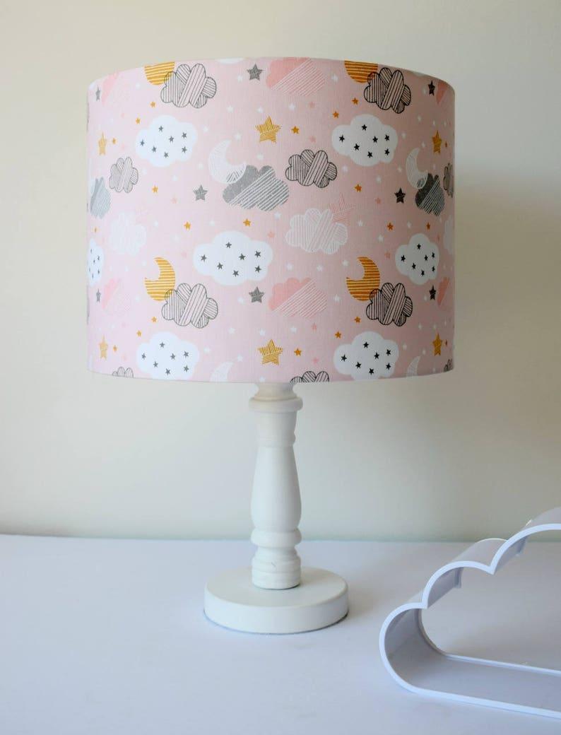 nuage en abat jour abat jour rose bébé rose et gris nursery   etsy