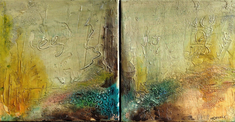 Original Acrylic Abstract Art Two Paintings Acrylic | Etsy