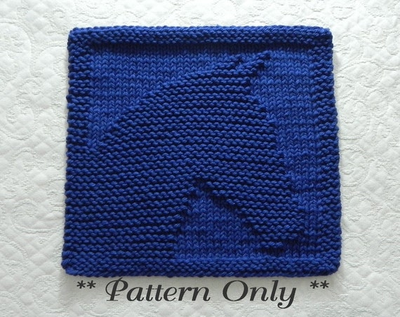 Knit Dishcloth Pattern For Horse Equestrian Gift Idea Easy Etsy