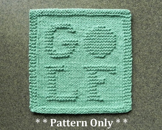 Knitting Pattern For Golfers With Golf Letters Interwoven For Etsy
