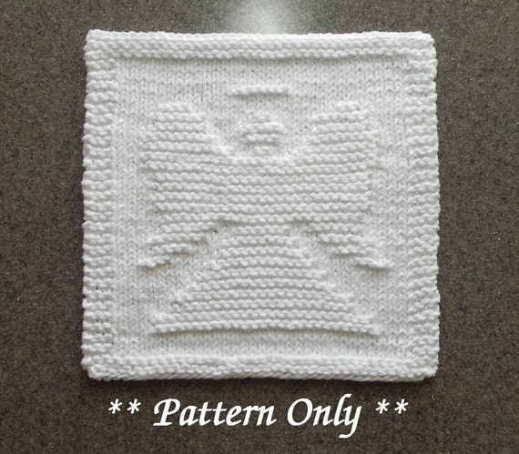 Angel Knitting Dishcloth Pattern Knit Dishrag Pattern Knit Etsy