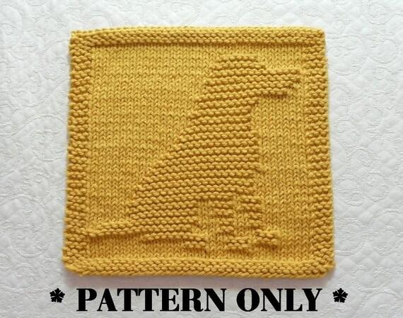 Labrador Retriever Knit Pattern Knit Dishcloth Pattern Knit Etsy