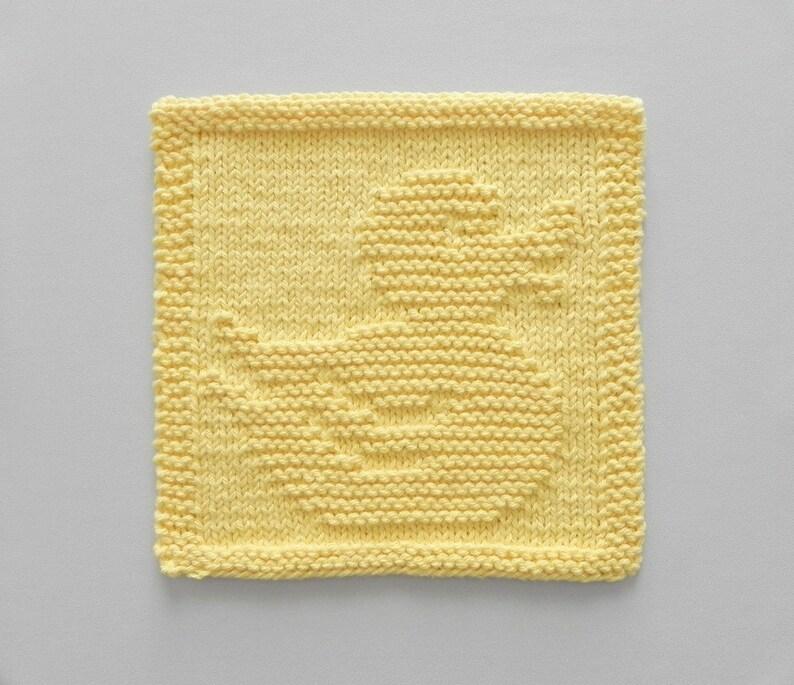 10d5f275e RUBBER DUCK Baby Wash Cloth or Knit Dishcloth Nursery Decor
