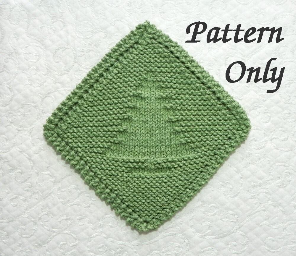 Diagonal Knit CHRISTMAS TREE Pattern Grandma\'s Favorite   Etsy