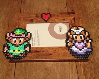 """The Legend of Zelda, A Link To The Past, ALTTP, Link and Zelda Photo Frame 6"""" x 4"""""""