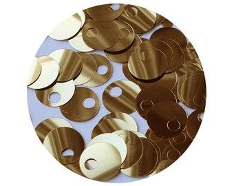 1000 x Large Round Disc Sequins//Paillettes 24mm 17 colours available.