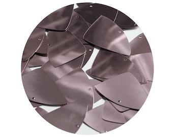 Fishscale Fin Sequin 1.5 Dark Gray Olive Metallic Loose Couture Paillettes