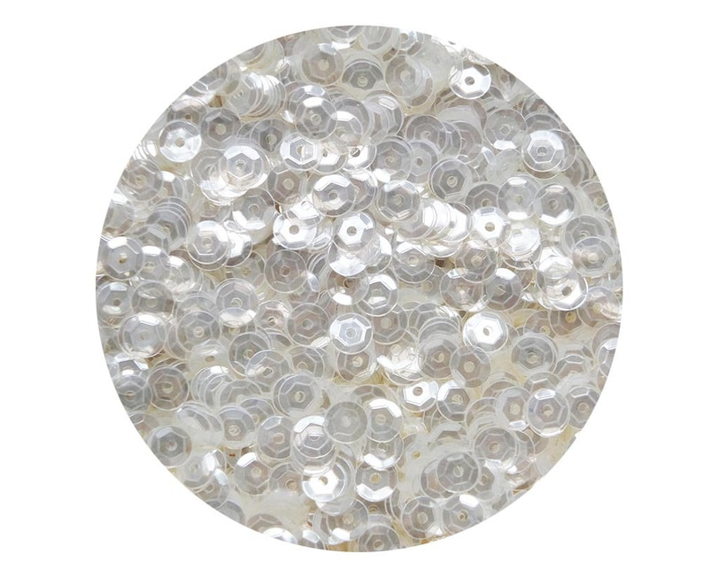 5mm Cup Sequins Crystal Luster Loose Facet Paillettes