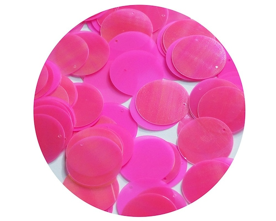 20mm ROUND SEQUIN PAILLETTE ~ PINK FROST RAINBOW ~  Made in USA