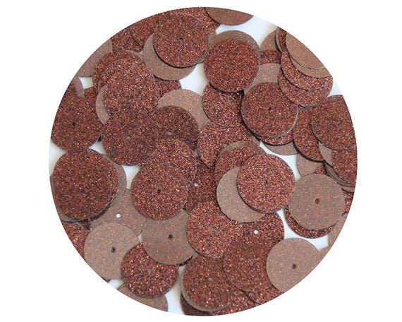 Made in USA 30mm Round Sequins Champagne Light Gold Metallic Loose Paillettes