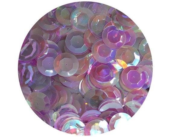 5mm Flat SEQUIN PAILLETTES ~ Antique Seafoam Aqua RAINBOW IRIS IRIDESCENT ~ USA