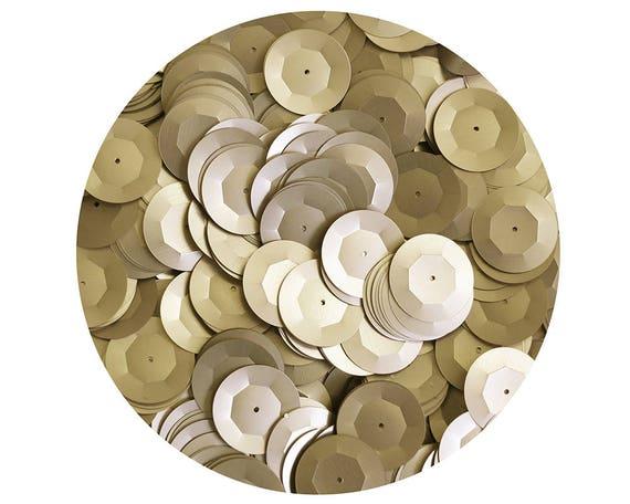 30mm ROUND SEQUIN PAILLETTES ~  Premium BRONZE Metallic ~ Flat Disc Made in USA