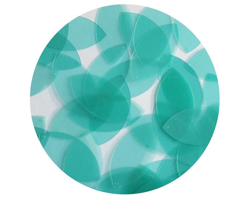 e09dbd5581a66a Navette Leaf Sequin 1.5 Seafoam Blue Green Transparent | Etsy