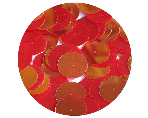 20mm ROUND SEQUIN PAILLETTES ~  PEACH Opaque Shiny~ Flat Sequin Disc Made in USA