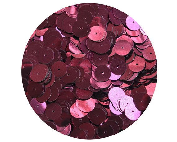 Loose SEQUINS 8mm Flat PAILLETTES ~ Burgundy Wine Red Matte Silk FROST ~ USA