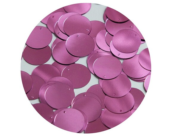 Couture paillettes Round  Flat Sequin 20mm Center Hole Orchid Pink Metallic Made in USA