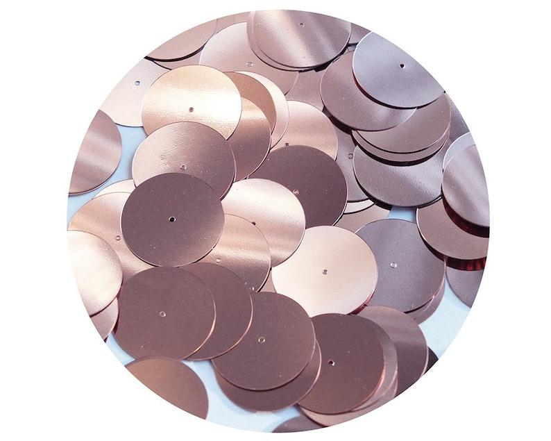 "Purple Metallic Sequins 24mm 1/"" Flat Round Top Hole Loose Paillettes"