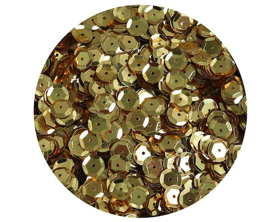 Made in USA 20mm Cup Sequins Bronze Brown Metallic