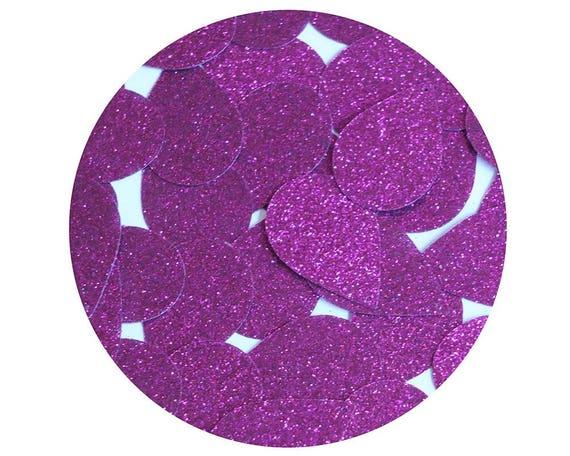 Round Sequin 15mm Deep Purple Metallic Sparkle Glitter Texture Couture Paillette