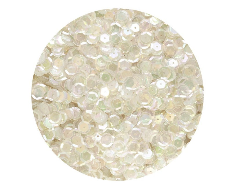 5mm Cup SEQUIN FACET PAILLETTES ~ CRYSTAL RAINBOW IRIS  ~ Made in USA