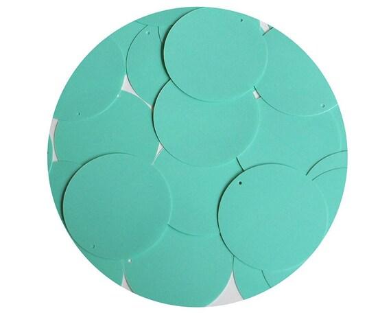 9268b5c219e2dd Round Sequin 40mm Seafoam Blue Green Opaque Glossy High Shine | Etsy