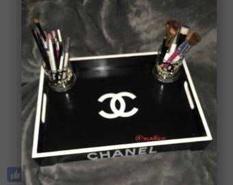 Designer inspired vanity tray