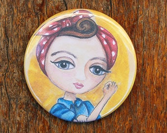 Pocket Mirror - We Can Do It - Rosie The Riveter