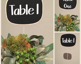 Chalkboard Sign Table Numbers