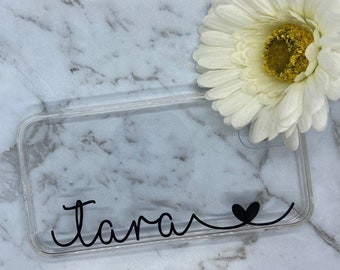 Custom Name Personalised Initial iPhone Clear Case Cover For iPhone Models 6 | 7 | 8 | X | XR | XS | 11 | 12 | Max | XR | Pro | Plus | Mini