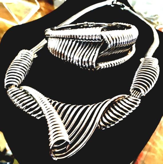 Marcel Boucher set necklace and bracelet signed an