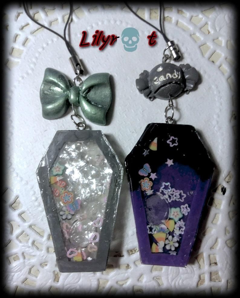 coffin shaker keyring chain bag phone charm bloody