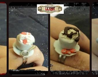 kawaii tea cup ring