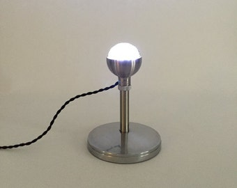 Upcycled Retro Microphone Industrial Table Lamp.  Desk Lamp.  Vintage Microphone.  LED Lamp. Industrial Lighting. *Free Shipping* *LIKE* us!
