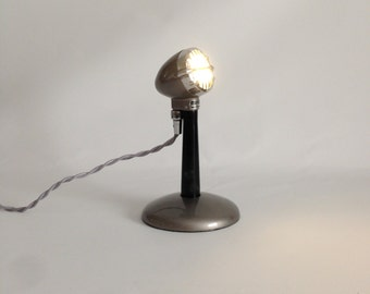 Upcycled Retro Microphone Table Lamp.  Desk Lamp.  Vintage Microphone.  LED Lamp. Industrial Lighting. *Free Shipping**LIKE* us on Facebook!
