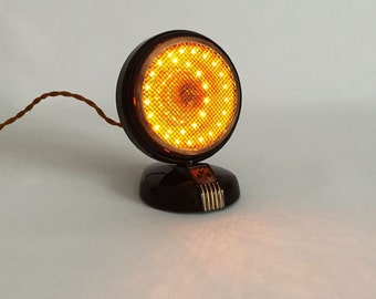 Upcycled Microphone Lamp. Night Light. Industrial lighting. LED lamp. LED lighting. Small Lamp. Old Microphone. *Free Shipping* *LIKE* us!