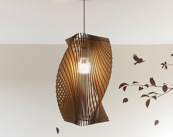 Wooden Lampshade Etsy