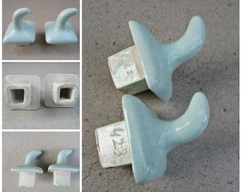 Quick View. Vintage Porcelain Towel Hooks, Bathroom ...