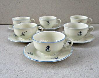 Vintage espresso/ coffee cups , sports espresso / coffee cups /Vintage Sports memorabilia coffee set  .