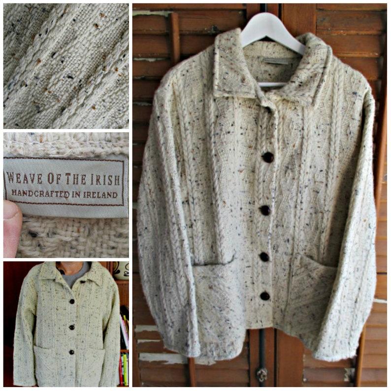 f339e6bdb51 Irish woolen cardigan ,Aran knitting, fisherman's cardigan,handmade Irish  sweater ,Irish aran sweater,Irish aran cardigan