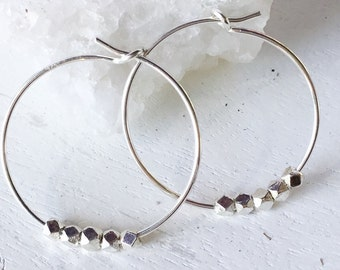 Small Silver Hoops - Skinny Hoops - 925 Silver Small Silver Hoop Earrings Minimalist Hoops Thin Hoops Simple Hoops Silver Circle Earrings