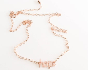 Hope Necklace - Handwriting Necklace - Survivor Gift - Infertility Necklace - Strength Necklace - Miscarriage Necklace - Adoption Necklace