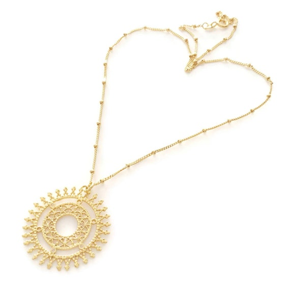 Festival de varias capas Larga Cadena Collar Gargantilla Colgante Oro Plata UK