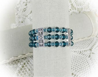 Bracelet Beads Crystal Glass Beads Bracelet Stretch