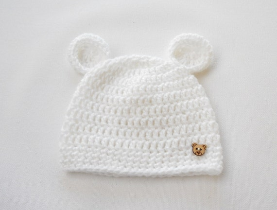 f9117315e7b Newborn going home outfit Crochet Baby Hat Baby ears hat