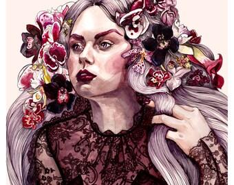 Eloise Fashion Illustration Wall Art Print