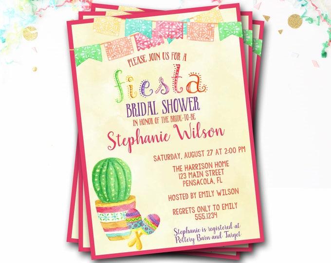 Fiesta Bridal Shower Invitation, Succulent Bridal Shower Invitation, Cactus Bridal Shower Invitation, Fiesta Bridal Shower, Fiesta Invite