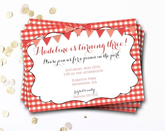 picnic invitation etsy