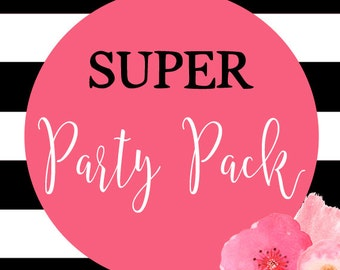 Super Party Pack, Printable Party Pack To Match Any Invitation In The Shop
