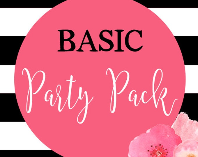 Basic Party Pack, DIY Printable, Printable Party Pack To Match Any Invitation In The Shop