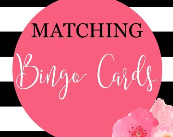 Baby Shower Bingo Cards, Bridal Shower Bingo Cards, Printable Bingo Cards, DIY Printable,  Made to Match Any Invitation in Shop
